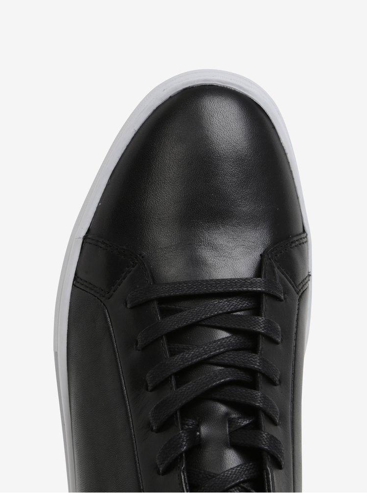 Bílo-černé pánské kožené tenisky Vagabond Paul