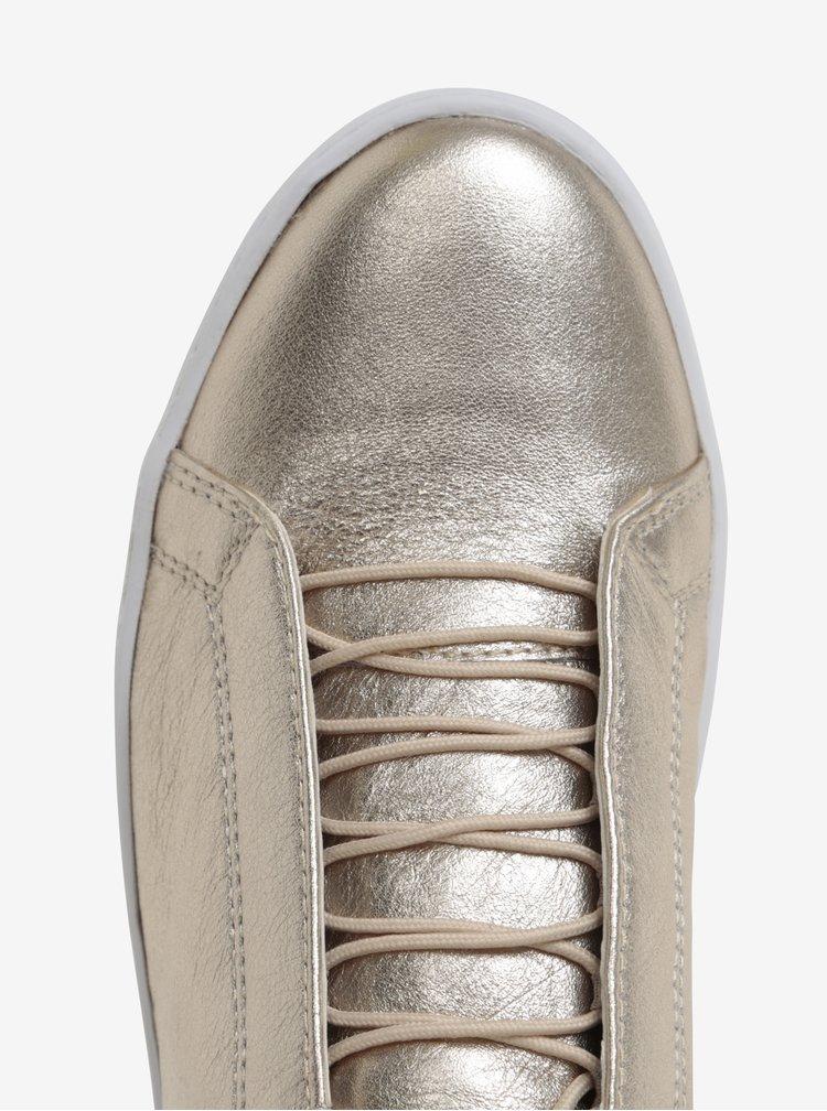 Dámské kožené tenisky ve zlaté barvě Vagabond Zoe
