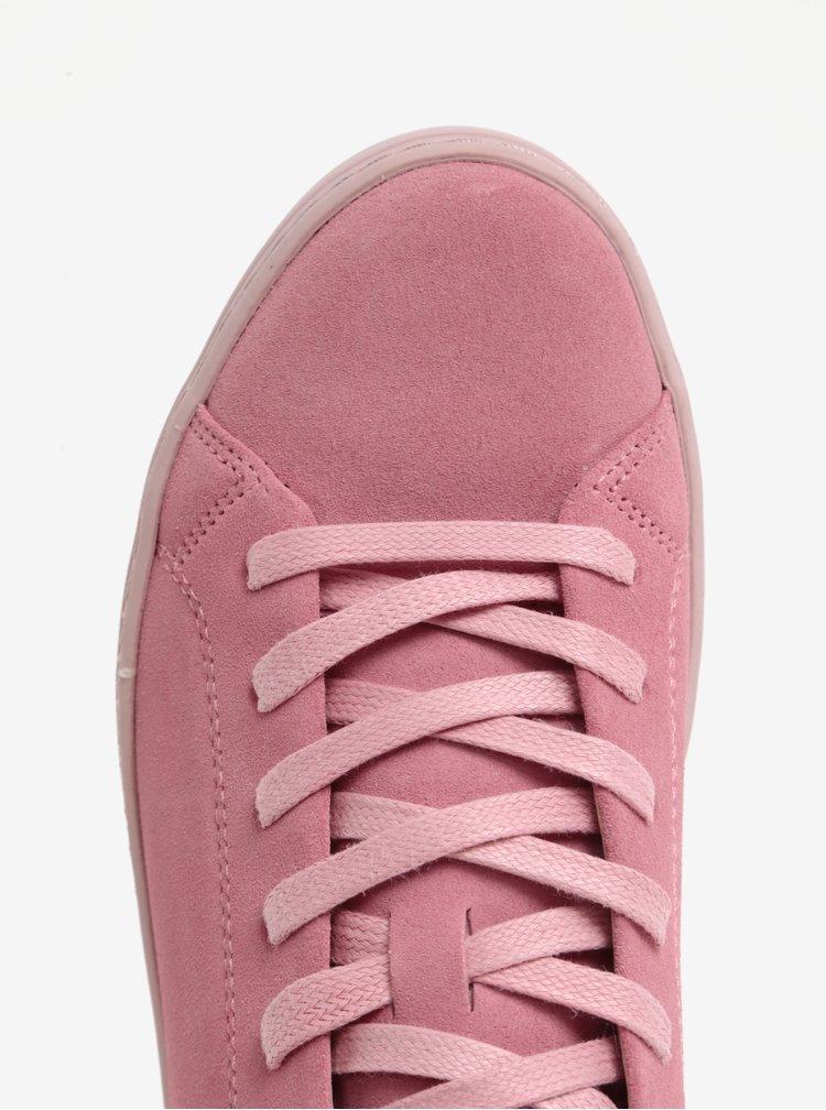 Růžové dámské semišové tenisky na platformě Vagabond Jessie