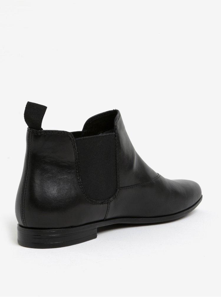 Černé dámské kožené chelsea boty Vagabond Marilyn