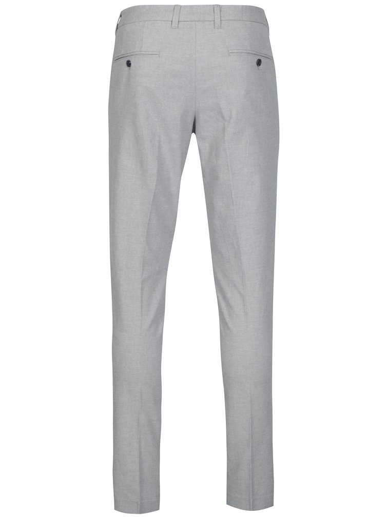 Pantaloni chino skinny gri deschis - Selected Homme Gale