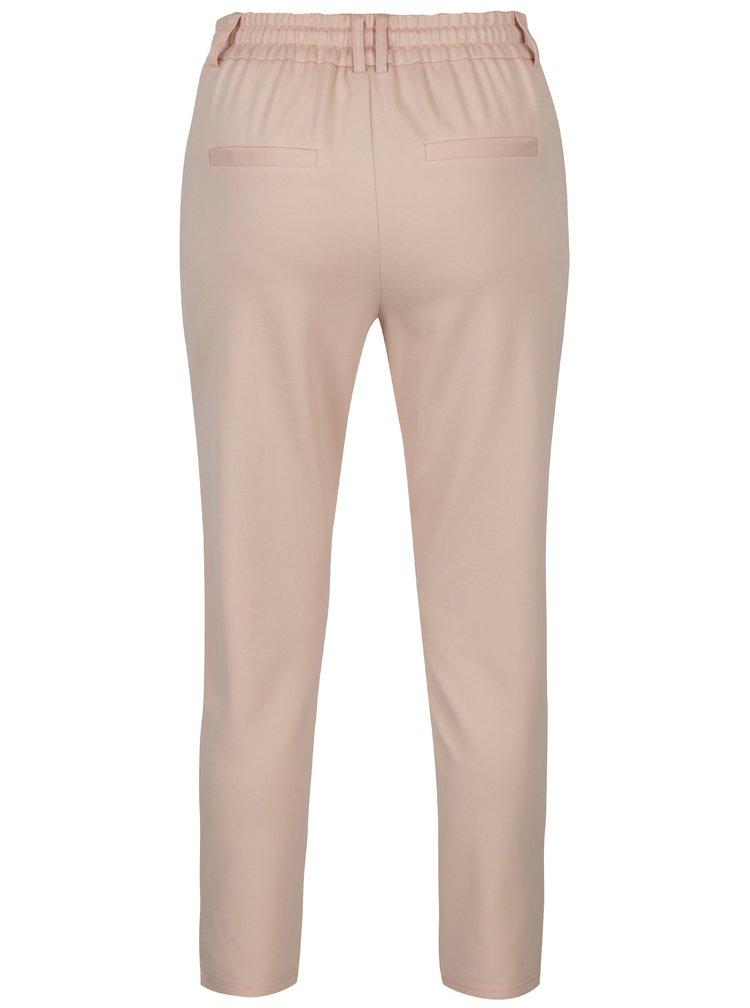 Svetloružové nohavice ONLY Poptrash