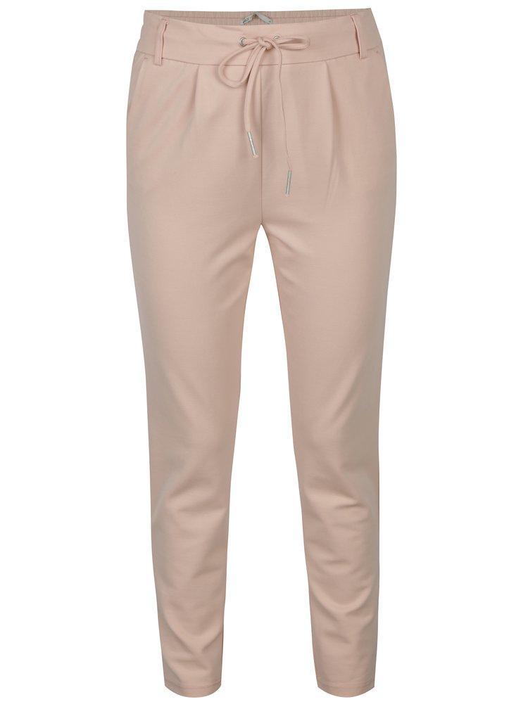 Světle růžové kalhoty ONLY Poptrash
