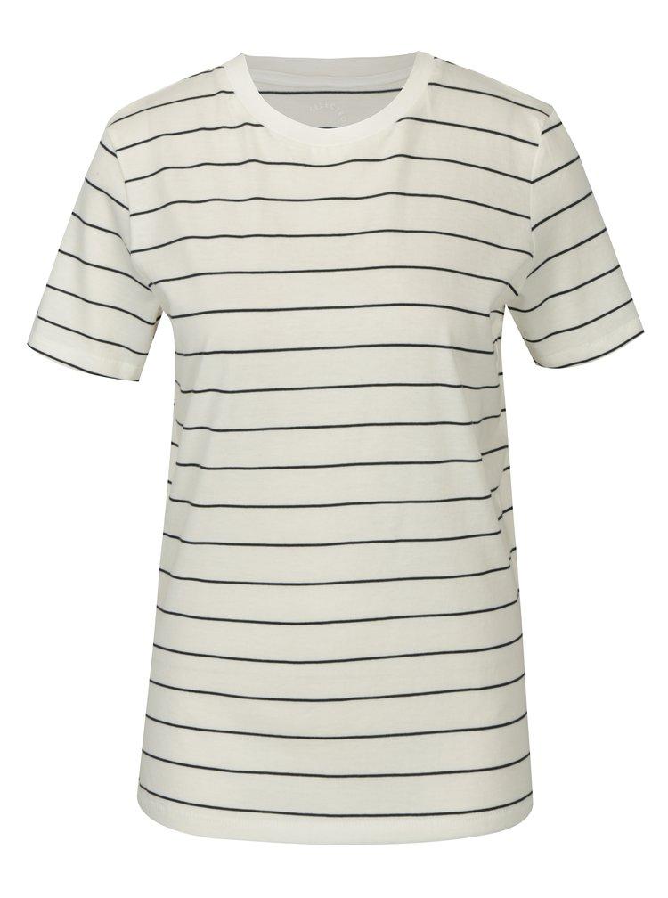 Krémové pruhované tričko Selected Femme MyPerfect