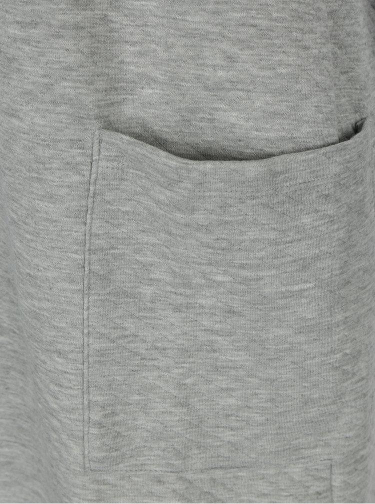 Světle šedý vzorovaný kardigan ONLY Joyce