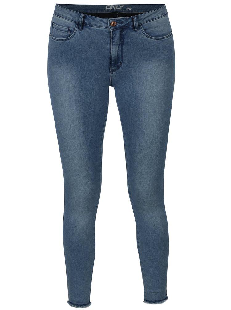 Modré zkrácené skinny fit džíny ONLY Royal