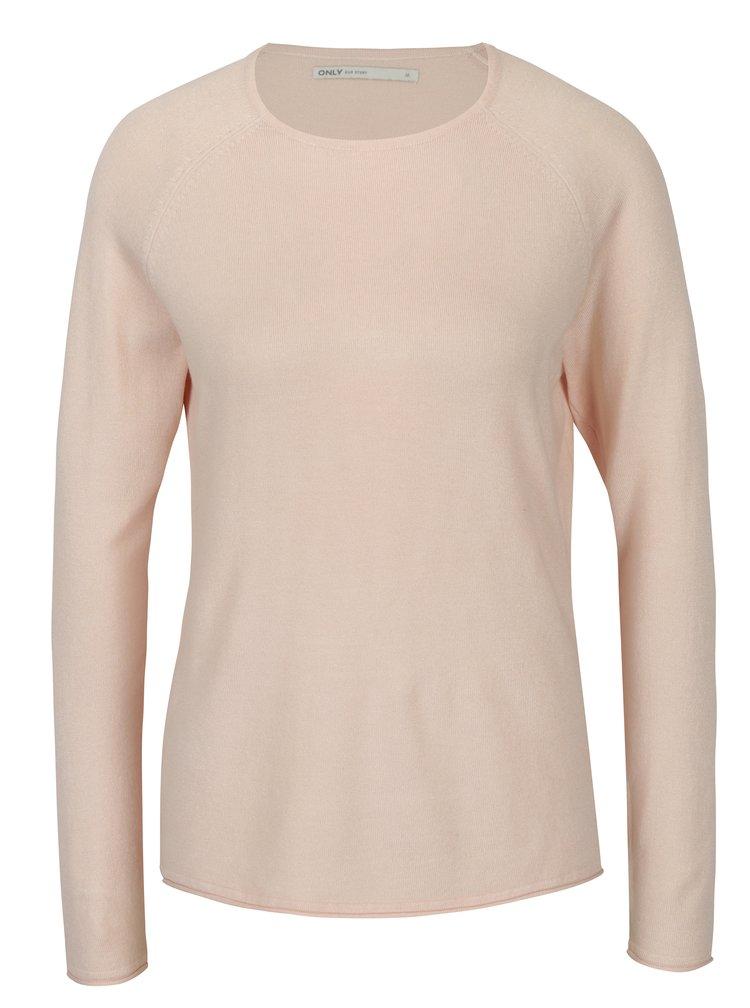 Světle růžový lehký svetr ONLY Mila