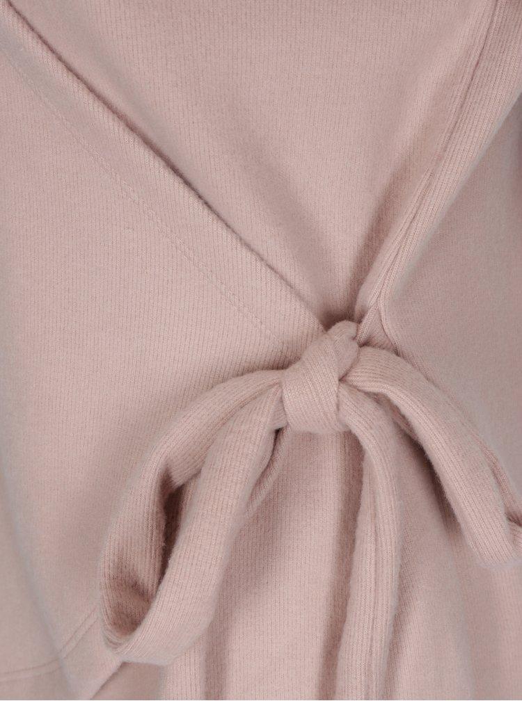 Růžový překládaný svetr VILA Palona