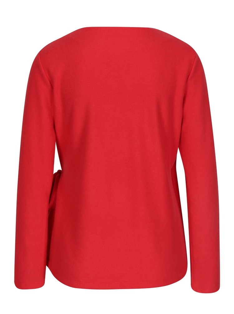 Červený zavinovací svetr VILA Palona