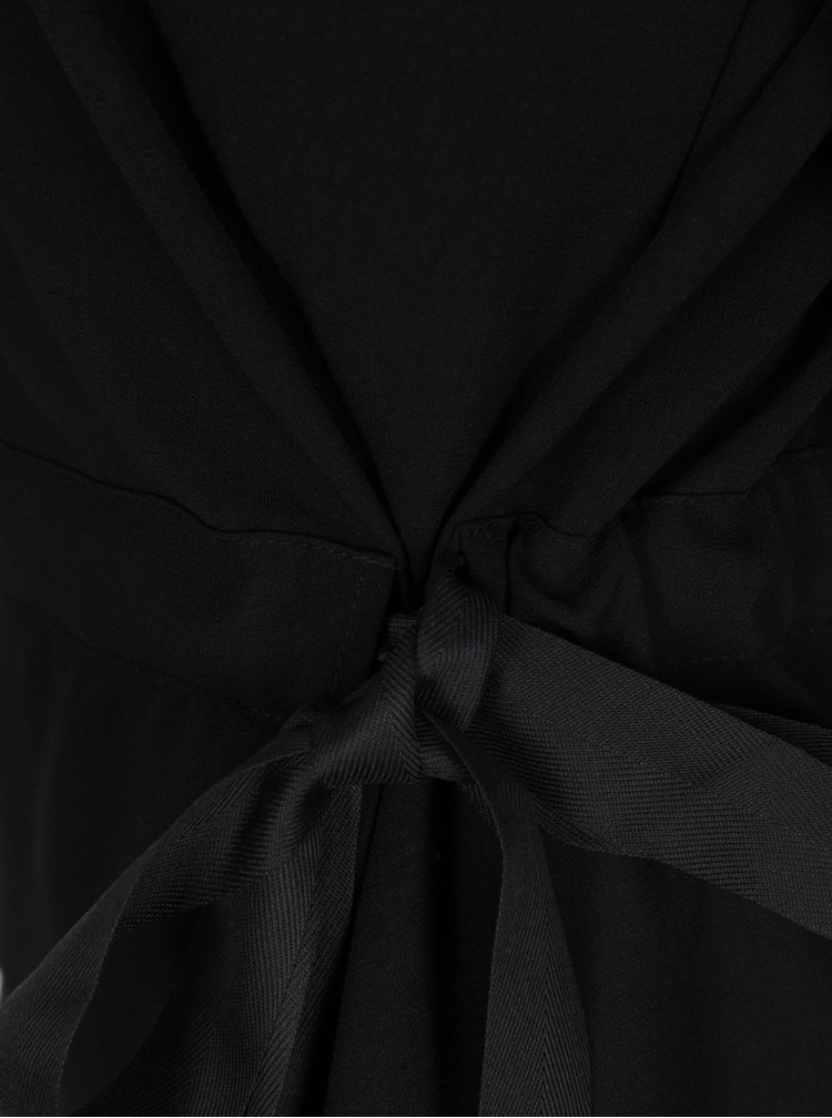 Černá halenka s mašlí VILA Sarina