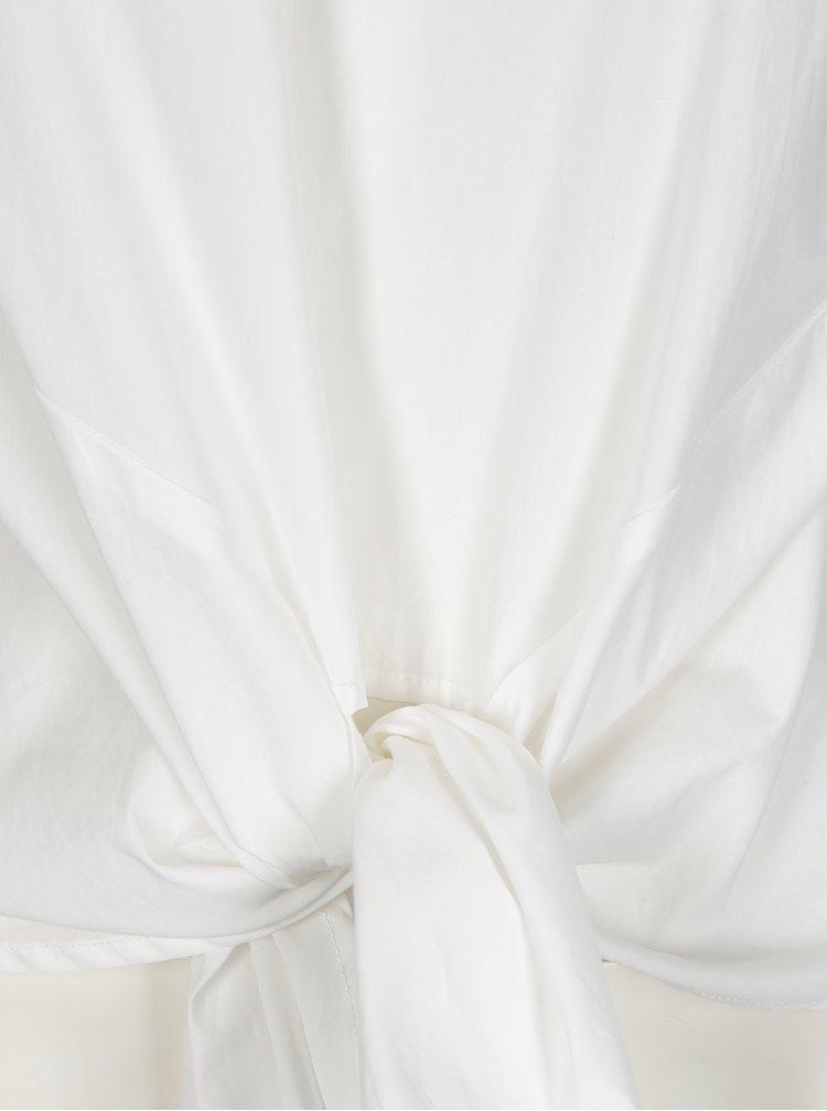 Bílá halenka se zavazováním VILA Justy