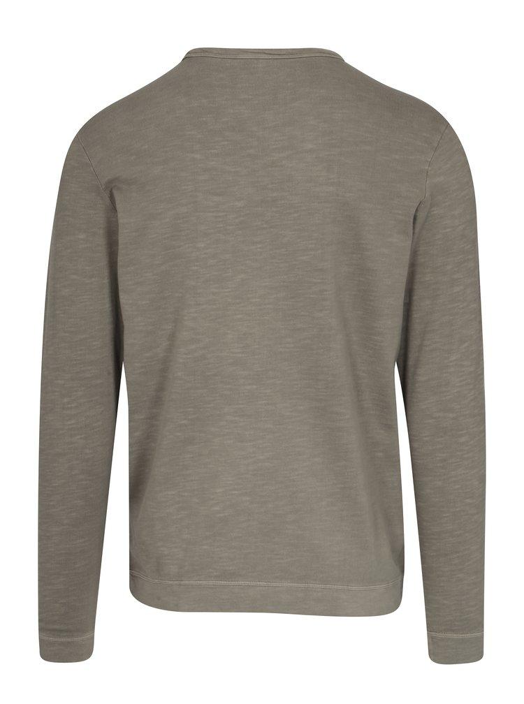 Khaki tričko s dlouhým rukávem Selected Homme Ben
