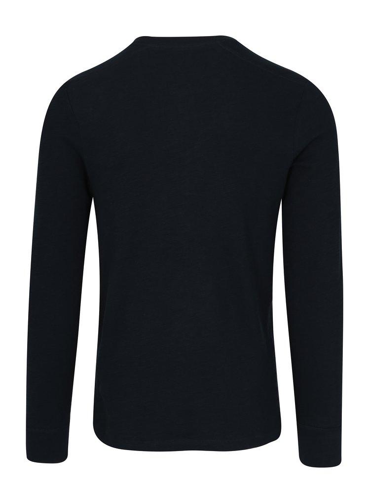 Tmavě modré tričko s dlouhým rukávem Selected Homme Grand