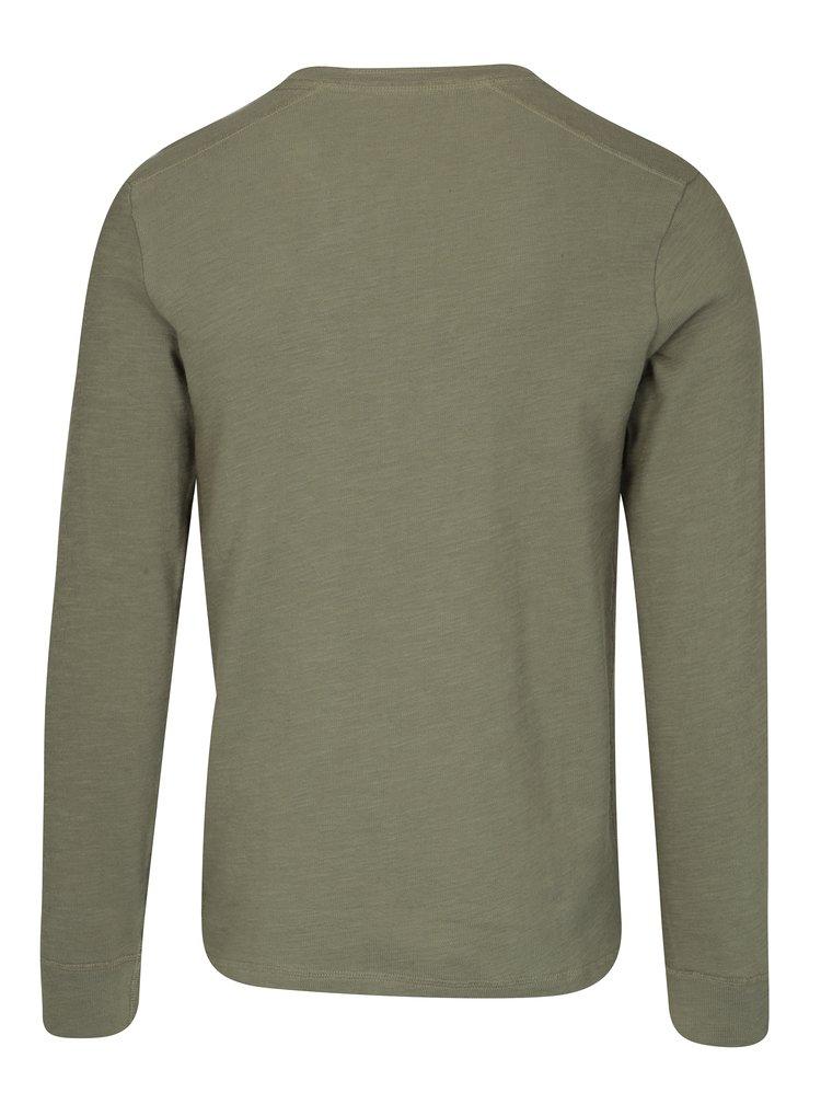 Khaki tričko s dlouhým rukávem Selected Homme Grand