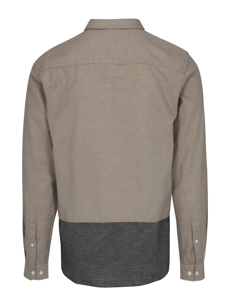 Béžová regular fit košile Selected Homme Two Todd