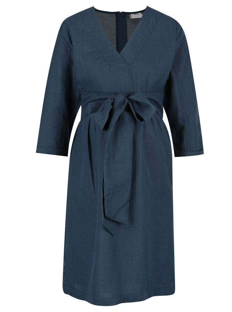 Tmavě modré  těhotenské šaty s páskem Mama.licious Vintage
