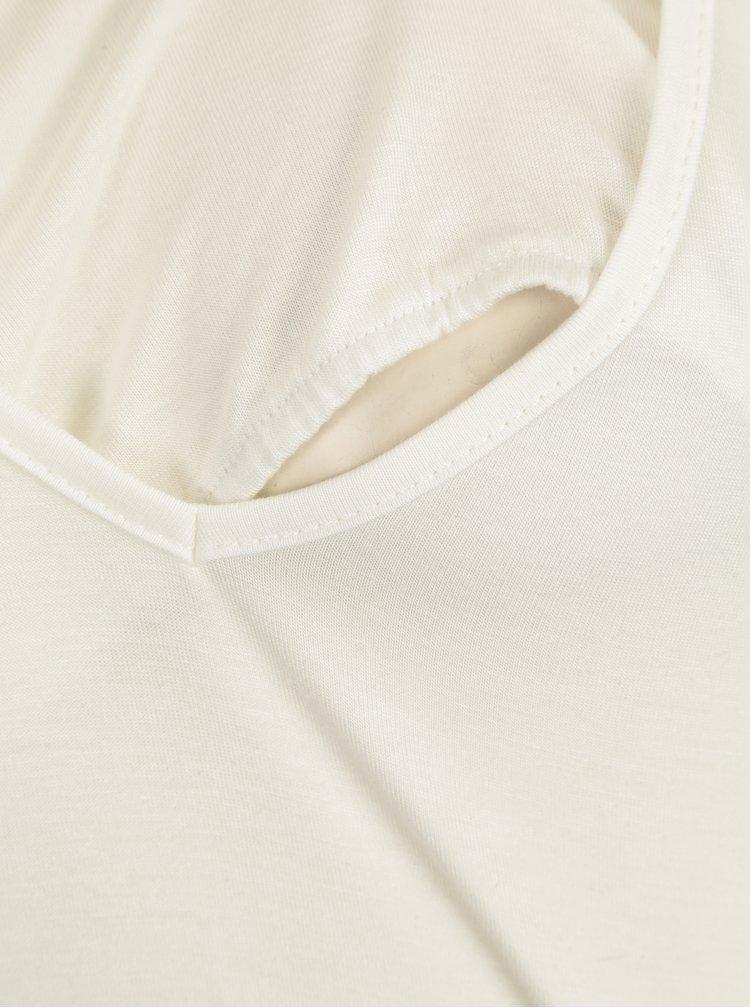 Krémové kojicí tričko s krátkým rukávem Mama.licious Willa