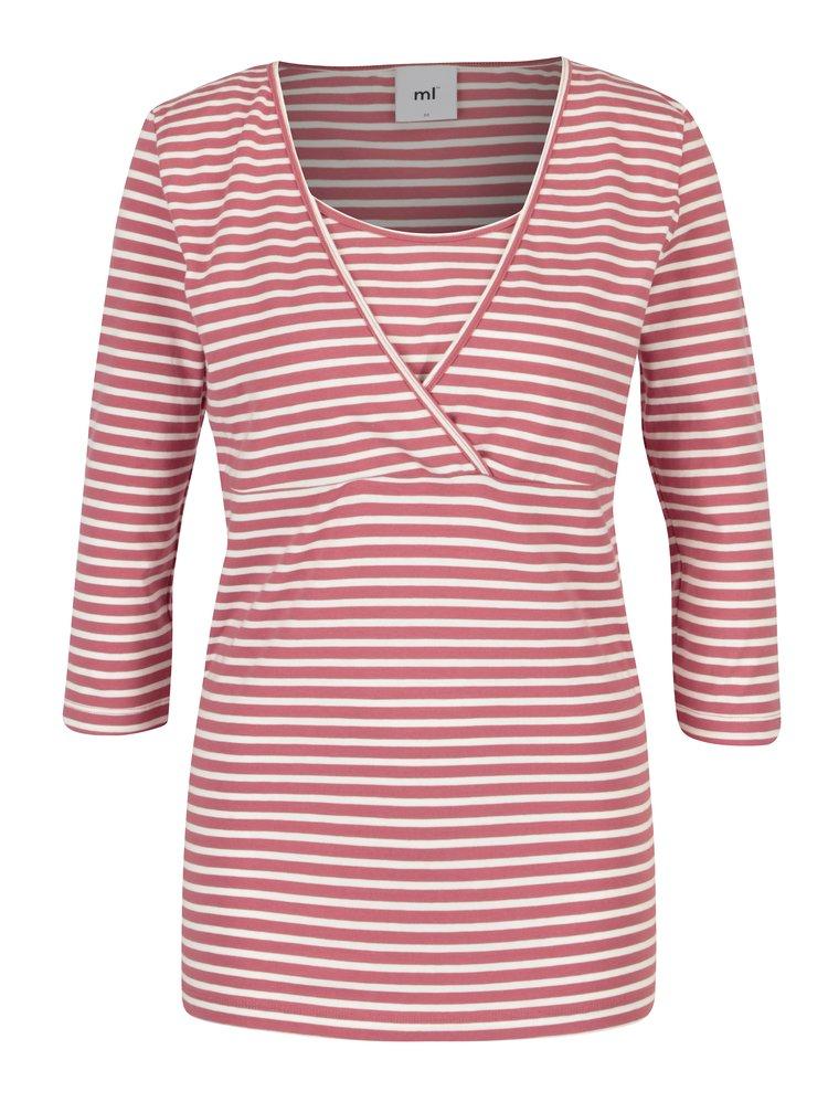 Sada dvou kojicích triček v krémovo-růžové barvě Mama.licious Lea