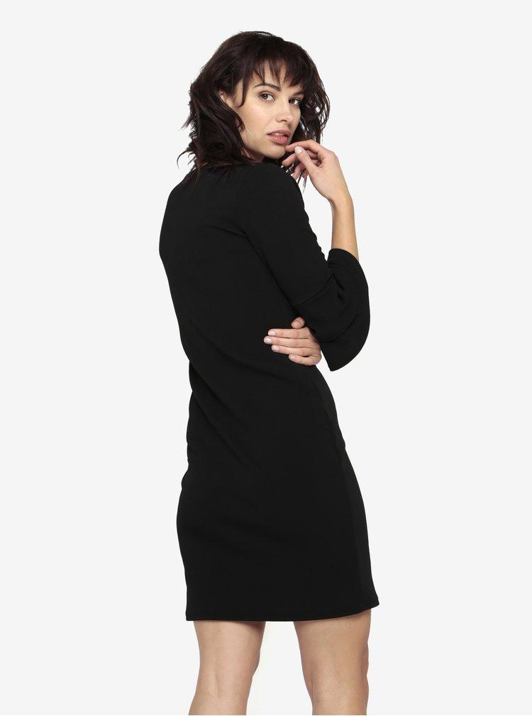 Černé pouzdrové šaty s 3/4 rukávem Dorothy Perkins
