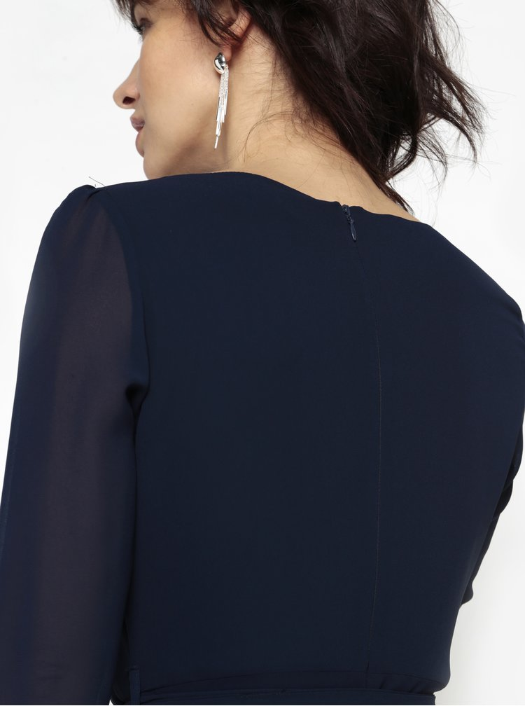 Tmavě modré šaty s dlouhým rukávem Billie & Blossom
