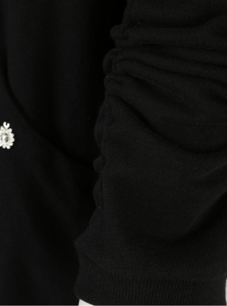 Černá mikina bez zapínání Ulla Popken