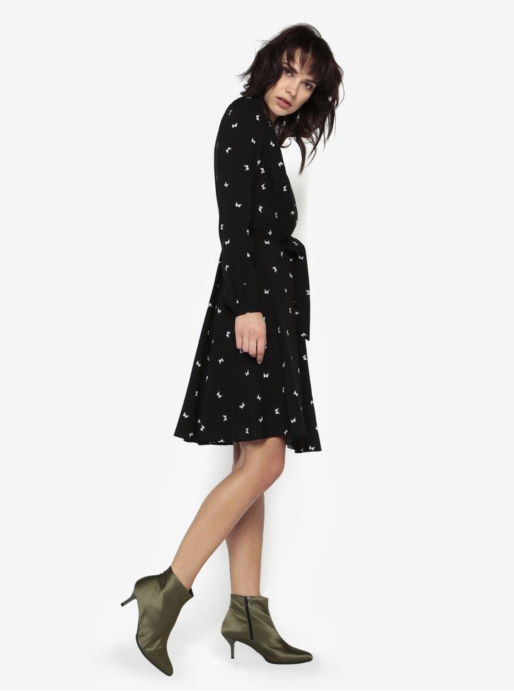Rochie neagra cu print fluturi Billie & Blossom