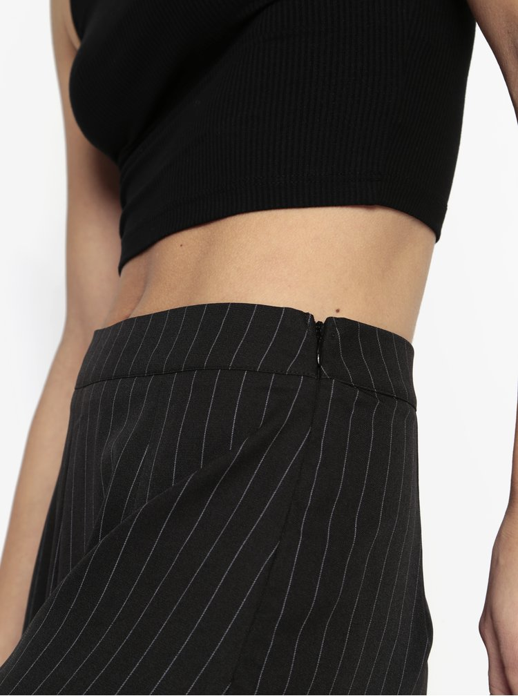 Černé pruhované culottes MISSGUIDED
