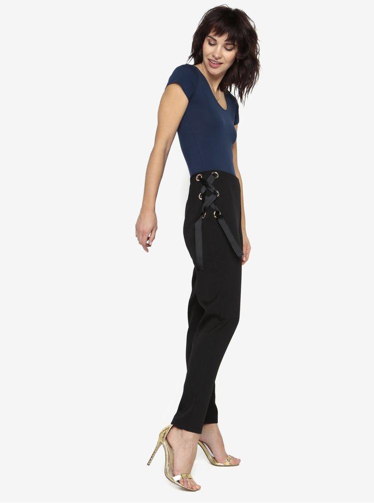 Černé kalhoty se šněrováním MISSGUIDED