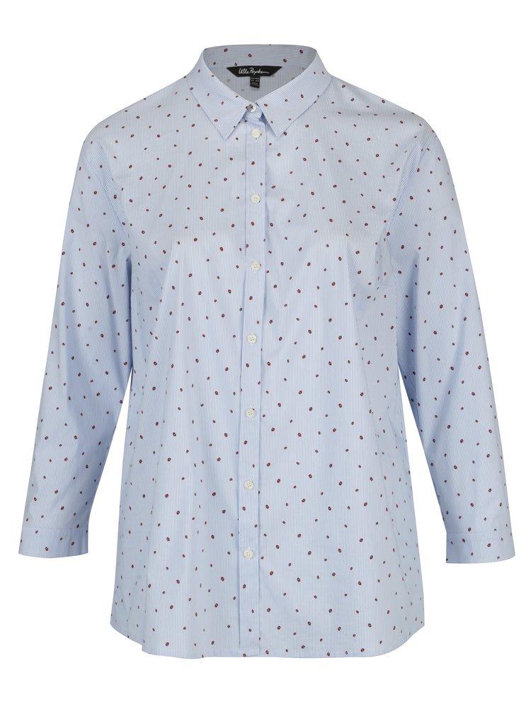 Modrá vzorovaná košile Ulla Popken