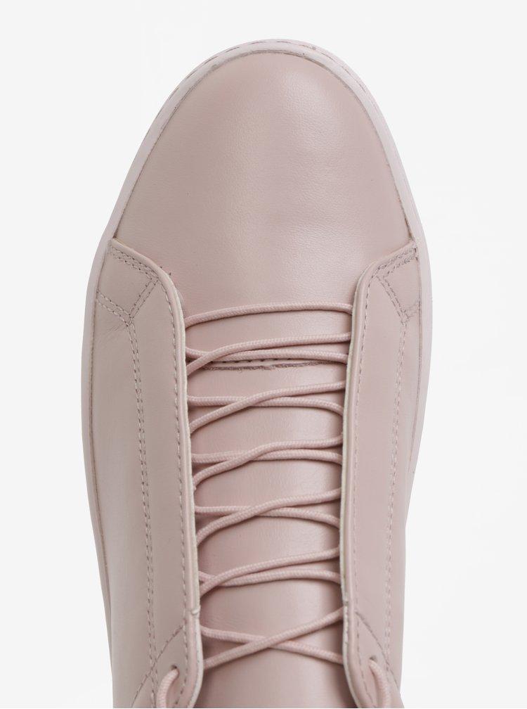 Růžové dámské kožené tenisky Vagabond Zoe