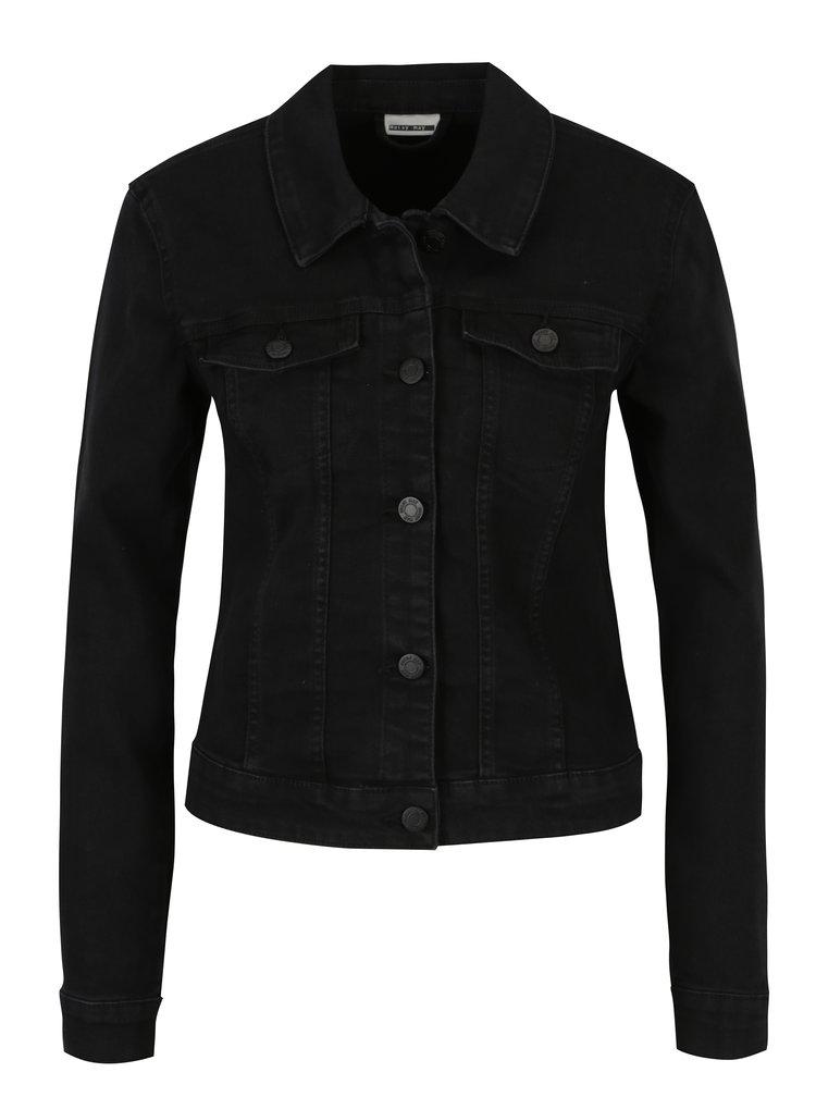 Jacheta scurta neagra din denim - Noisy May Debra