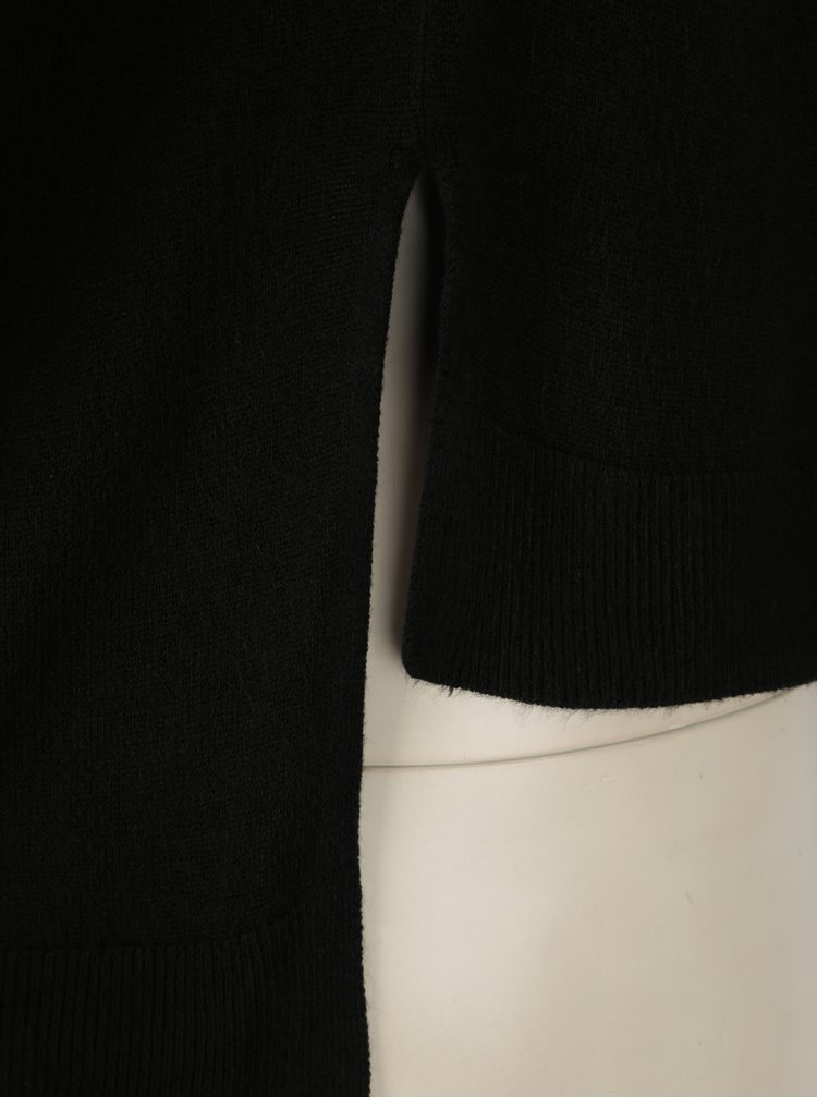 Pulover asimetric negru cu maneci raglan Noisy May Chen