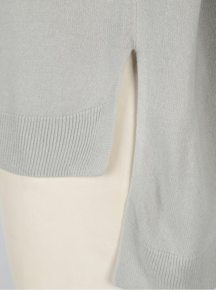 Světle šedý svetr s prodlouženým zadním dílem Noisy May Chen
