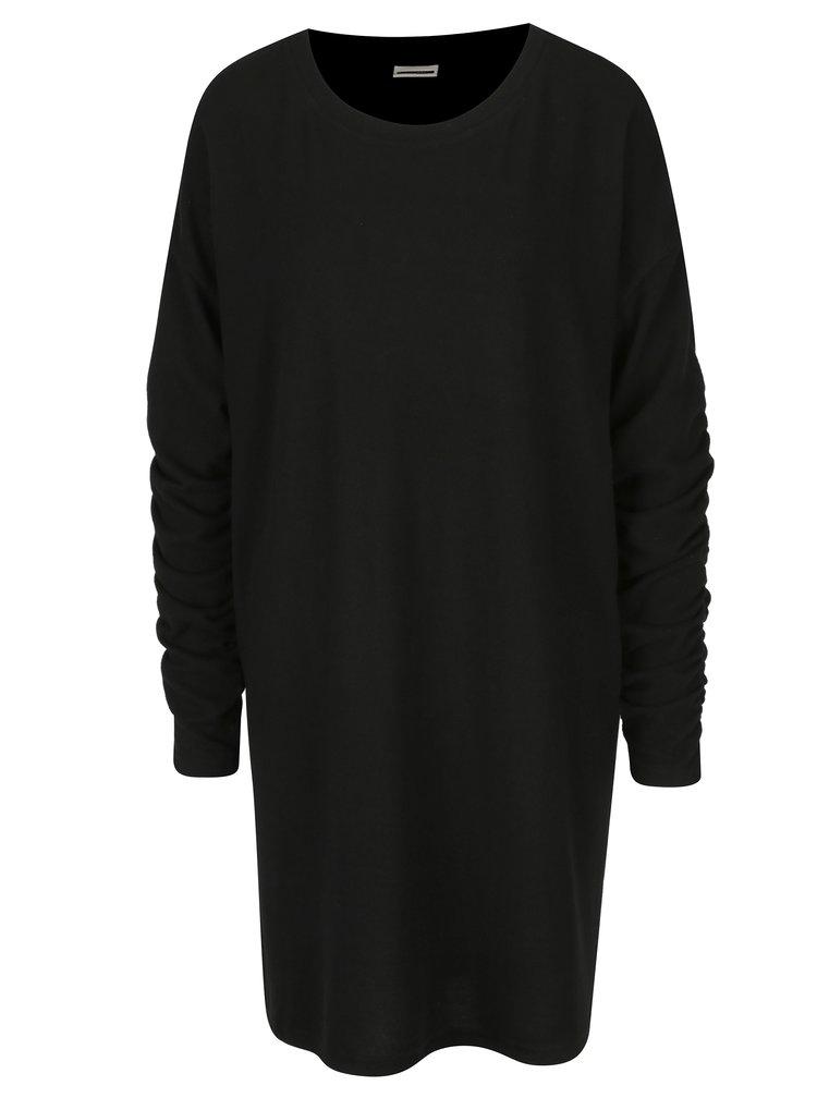 Černé lehké svetrové šaty Noisy May Chrystal