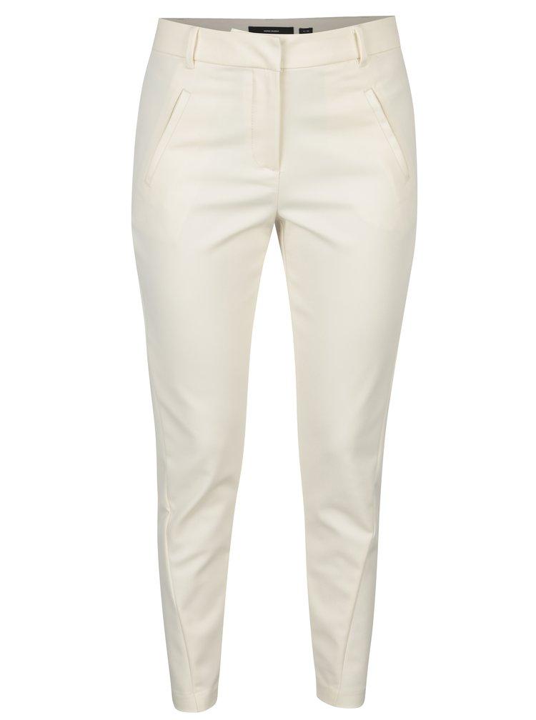 Krémové kostýmové kalhoty VERO MODA Victoria