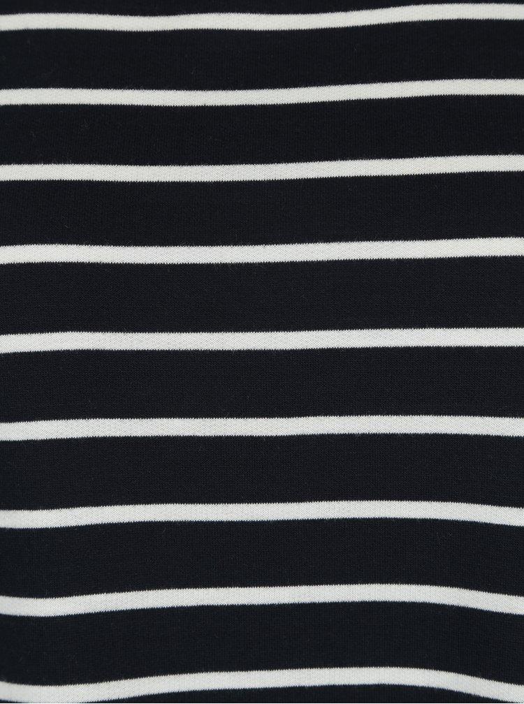 Tmavě modré pruhované tričko s dlouhým rukávem VERO MODA Nira