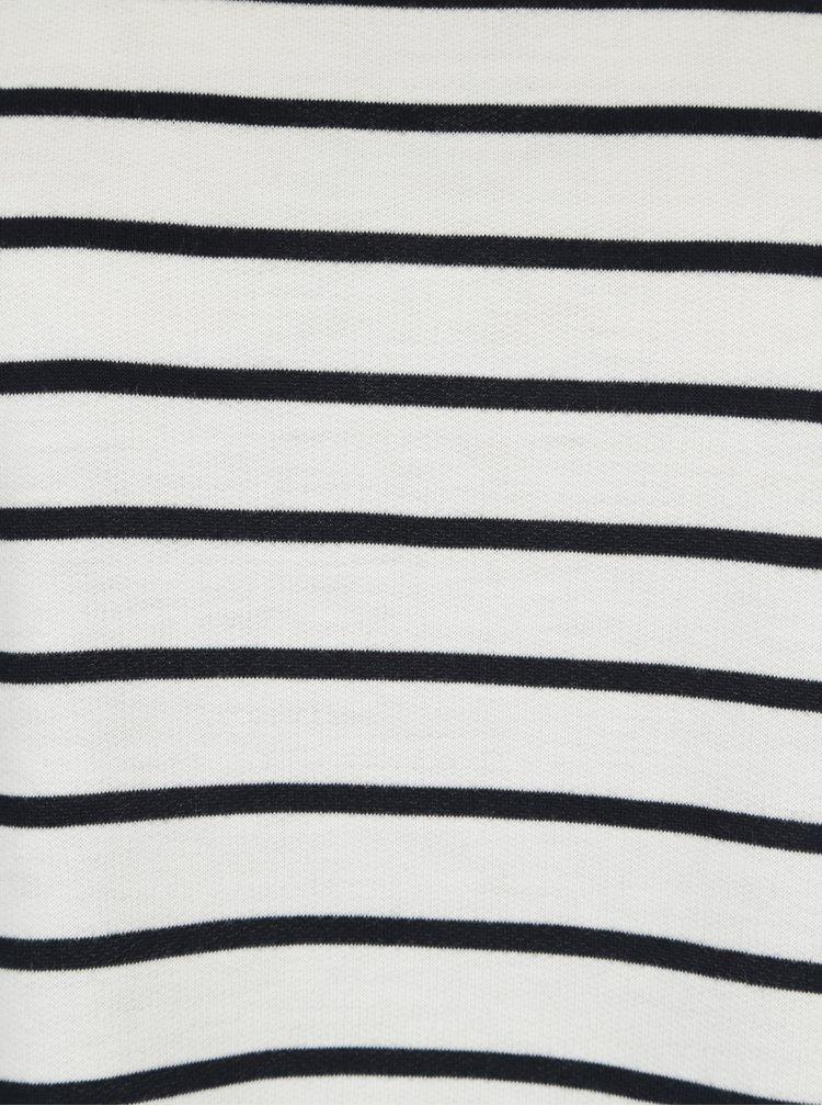 Bílé pruhované tričko s dlouhým rukávem VERO MODA Nira