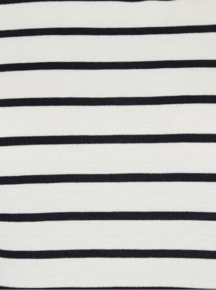 Bílé pruhované šaty s 3/4 rukávy VERO MODA Nira