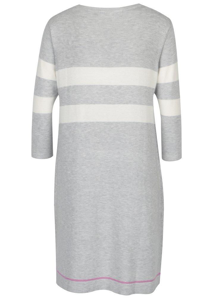 Světle šedé lehké svetrové šaty VERO MODA Lacole