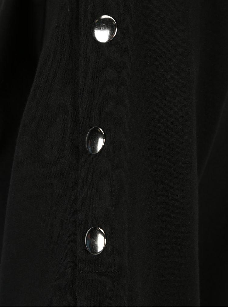 Černé tričko s kovovými detaily VERO MODA Jane