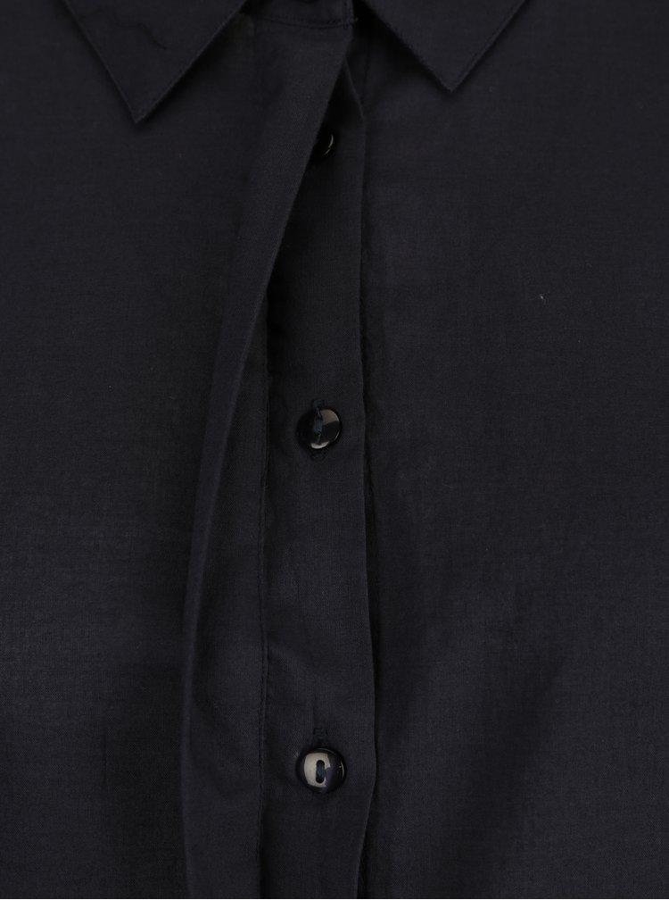 Tmavě modrá košile s krajkou na rukávech VERO MODA Nessa