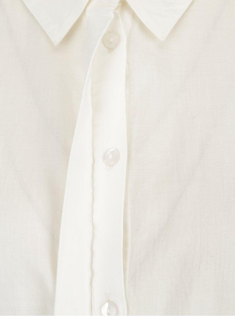 Krémová košile s krajkou na rukávech VERO MODA Nessa