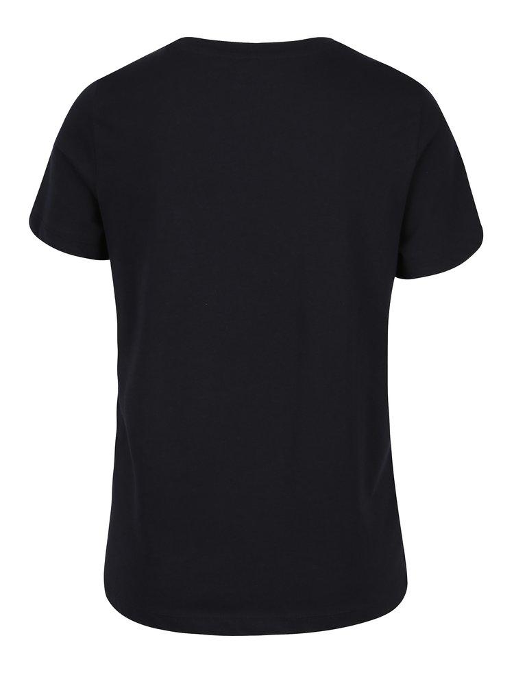 Tmavě modré tričko s potiskem VERO MODA Nelik