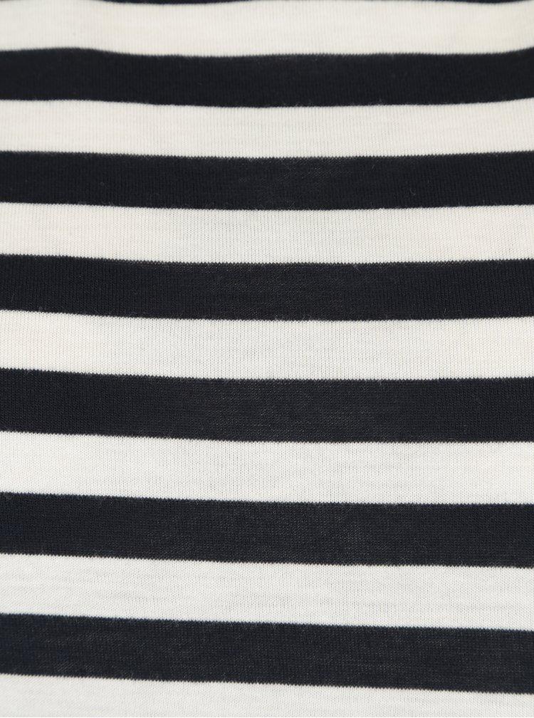 Krémovo-modré pruhované basic tričko VERO MODA Nia
