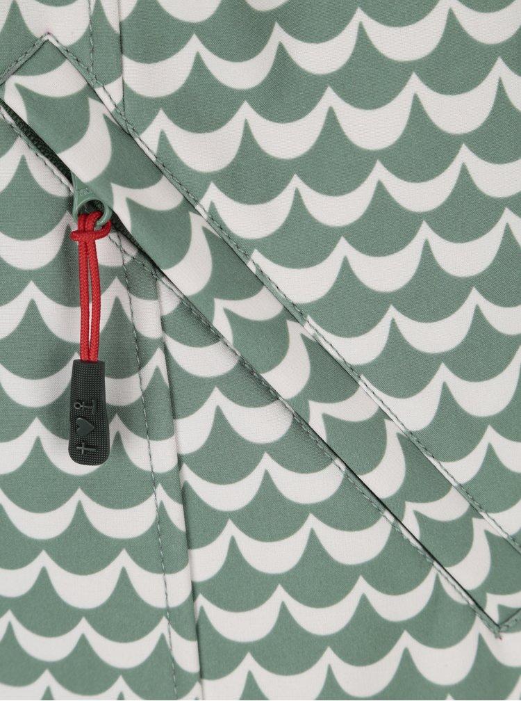 Bílo-zelená nepromokavá vzorovaná bunda Blutsgeschwister