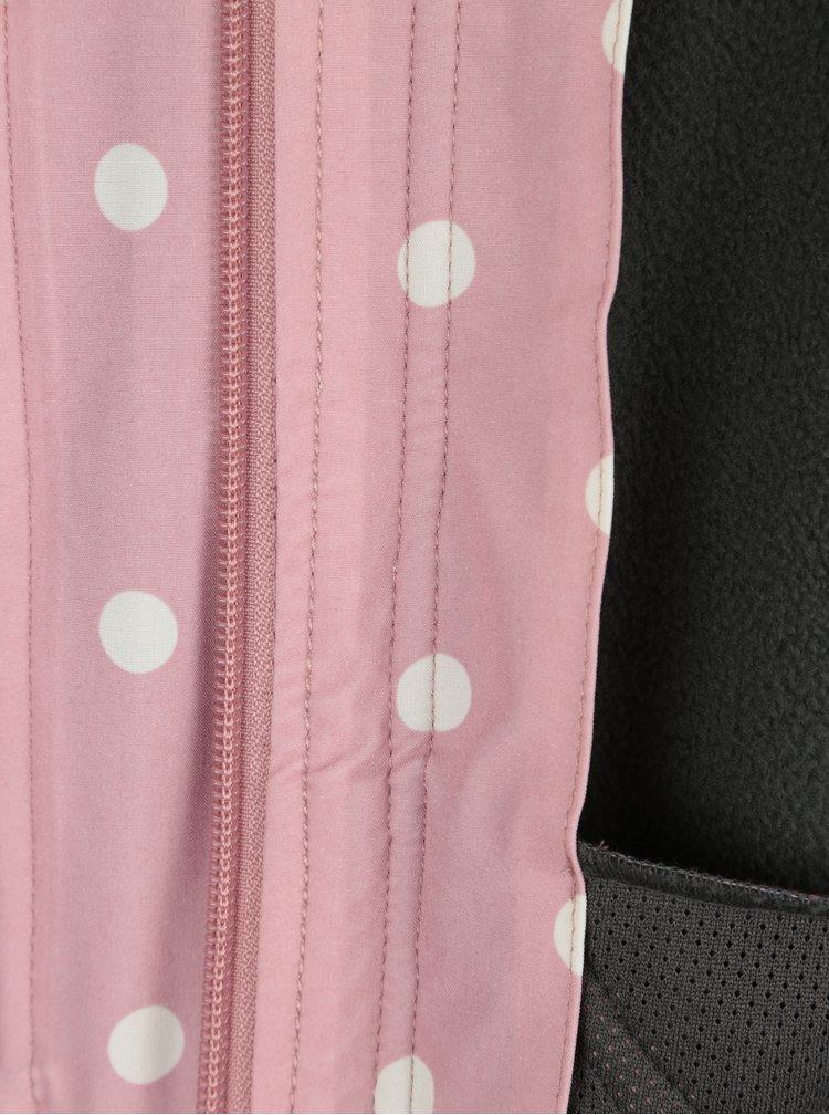 Starorůžová nepromokavá puntíkovaná bunda Blutsgeschwister
