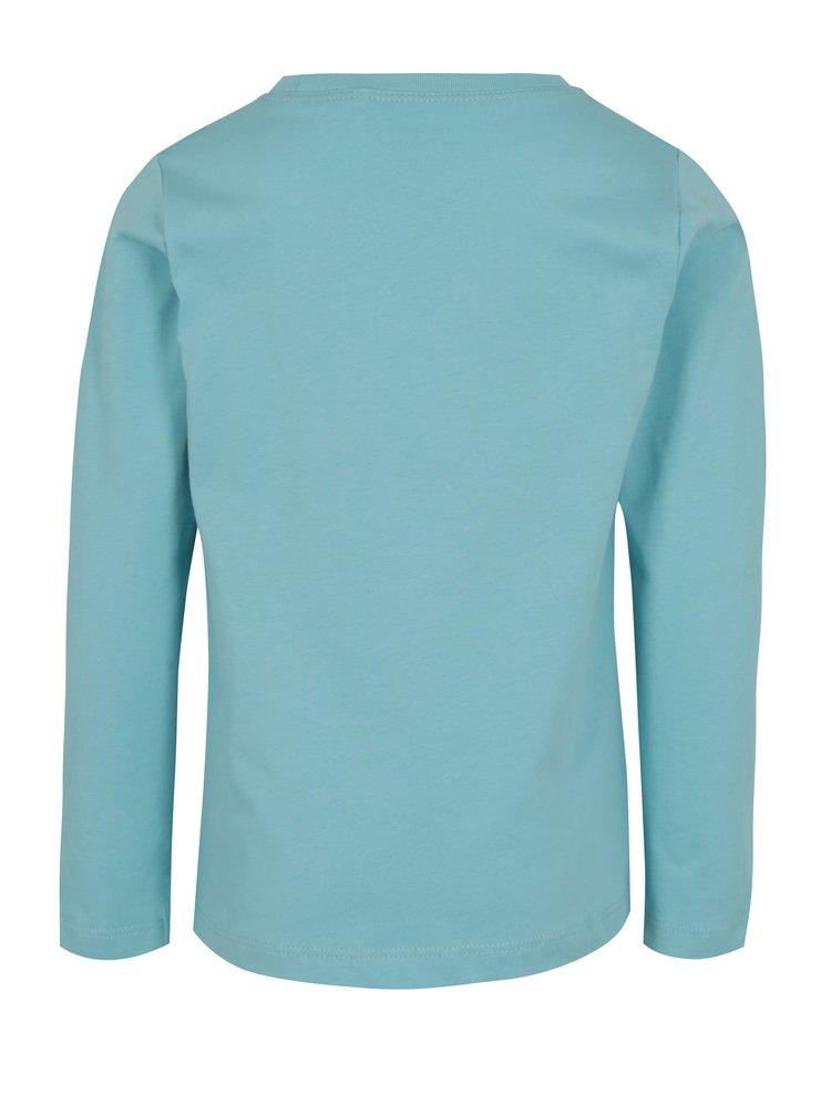 Světle modré klučičí tričko s potiskem a dlouhým rukávem name it Victor