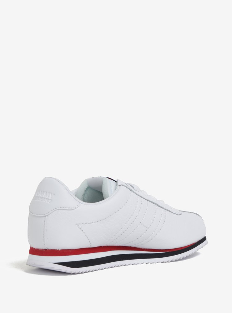 Bílé dámské kožené tenisky Tommy Hilfiger