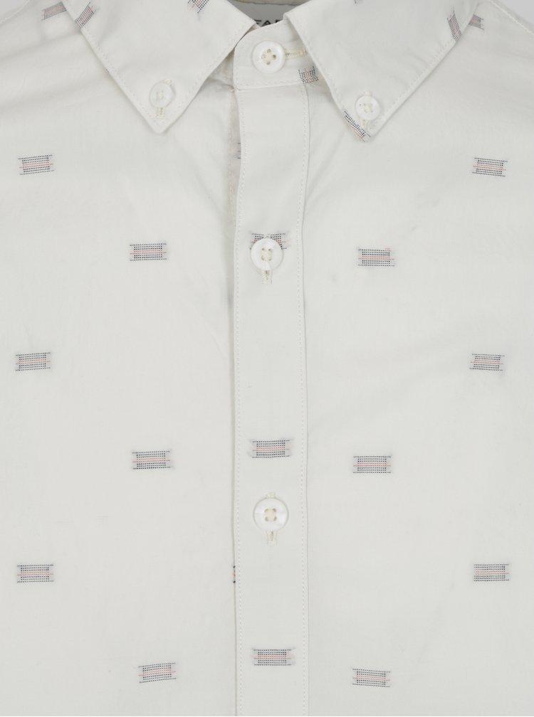 Krémová vzorovaná slim fit košile Farah Stovin