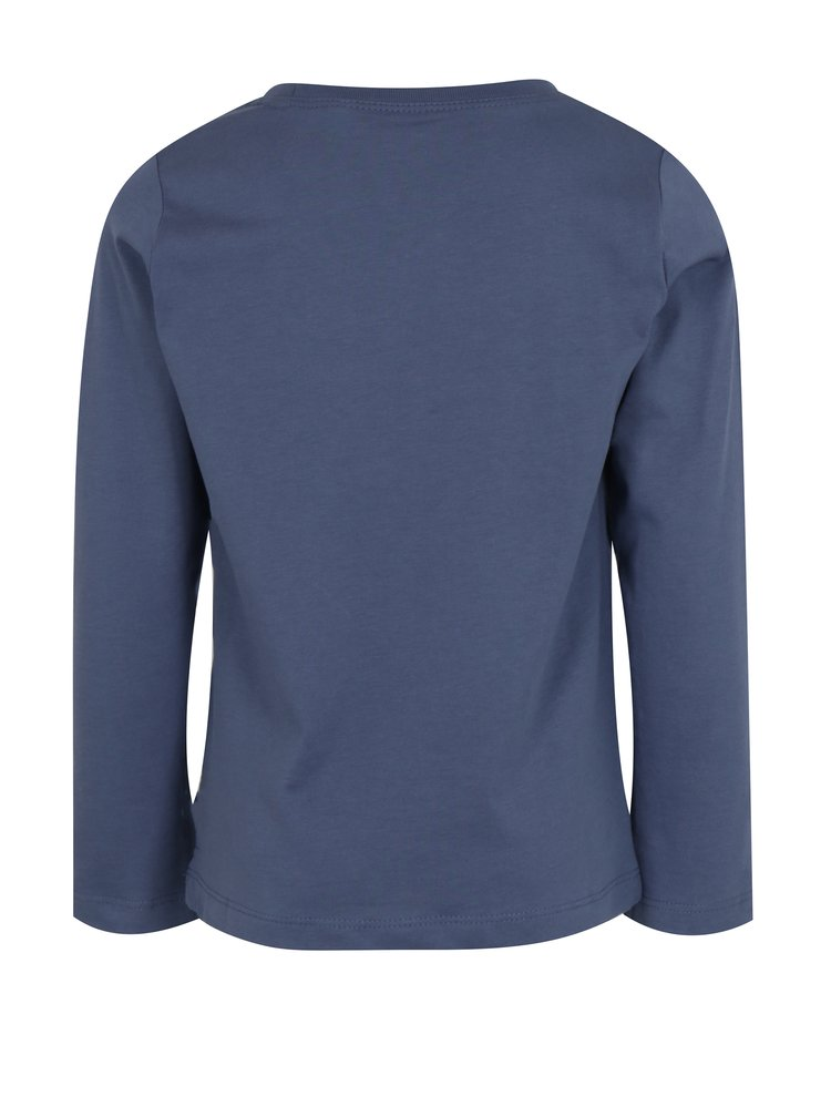 Tmavě modré klučičí tričko s potiskem a dlouhým rukávem name it Victor
